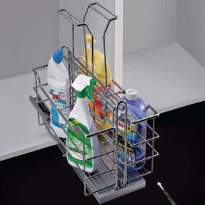 Kệ đựng chất tẩy rửa Inox mạ Crom GROB GRO304-350 dạng nan