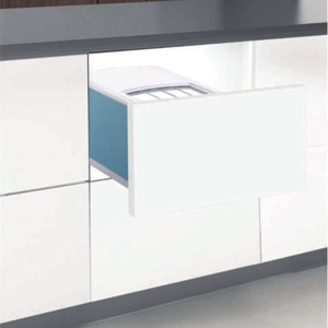 Thùng gạo âm tủ gắn cánh 1 ngăn Grob RBD-300